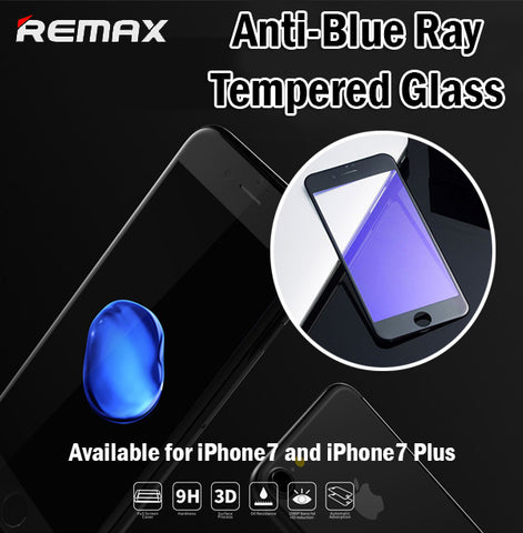 Remax Gener Anti-Blue Ray 3D Tempered Glass iPhone7 iPhone 7 Plus 7+ Curved