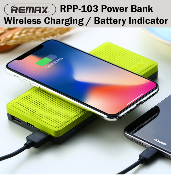 Remax RPP-103 Miles Wireless Power Bank Powerbank 10000mAh Portable Charger