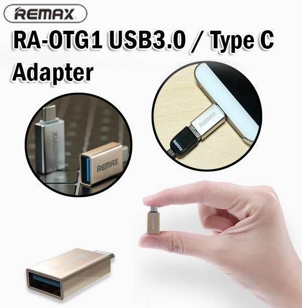 Remax RA-OTG1 Glance USB 3.0 Type C Adapter Smartphone Tablet Android OTG Flash