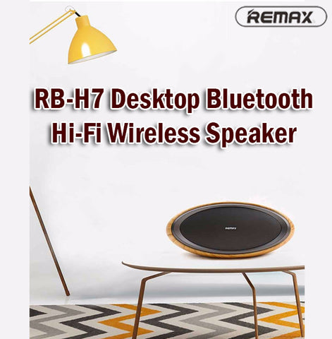 Remax RB-H7 Desktop Bluetooth Wireless HiFi HD Speaker For Phones Computers