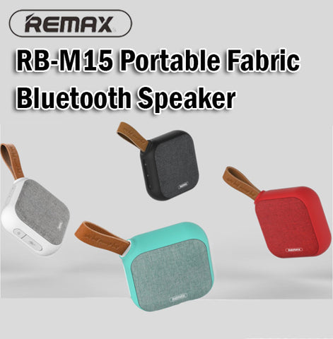 Remax RB-M15 Small and Portable Wireless Fabric Bluetooth Speaker Phone Computer