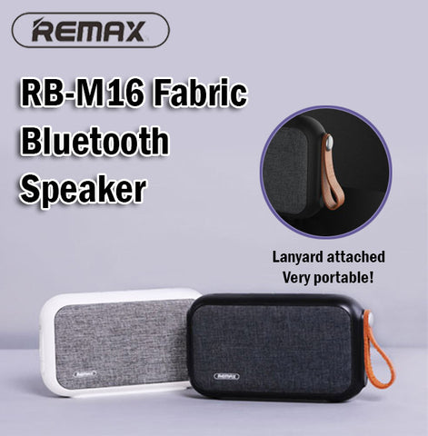 Remax RB-M16 Portable Wireless Fabric Bluetooth Speaker Phones Computers Laptops