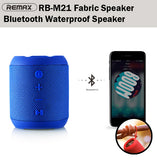 Remax RB-M21 Fabric Bluetooth Waterproof Speaker Wireless Outdoor Music AUX HD