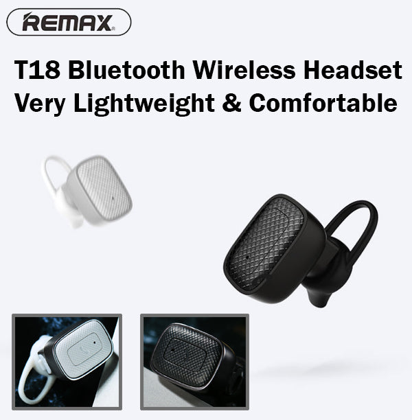Remax RB-T18 Bluetooth Headset Wireless Light Compatible iPhone Android iOS
