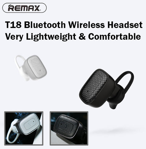 bcfa3ef0332 Remax RB-T18 Bluetooth Headset Wireless Light Compatible iPhone Android iOS