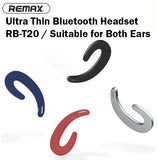 Remax RB-T20 Ultra Thin Bluetooth Headset Wireless Compatible iPhone Android iOS
