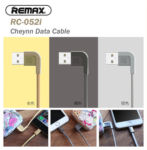 Remax RC-052i Cheynn 1 Metre Super Fast Charging Data Transfer Cable IOS Apple
