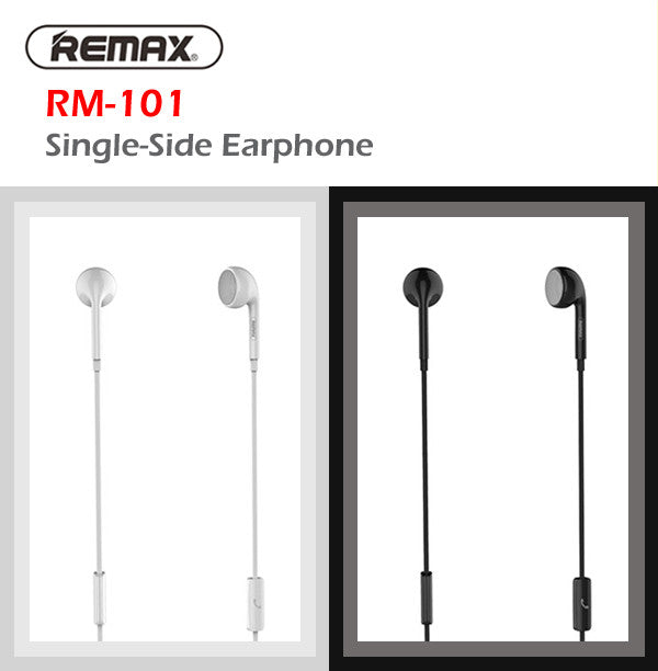 Remax RM-101 1 Metre In-Car Use Single Side Earphone Earpiece Apple Samsung HTC