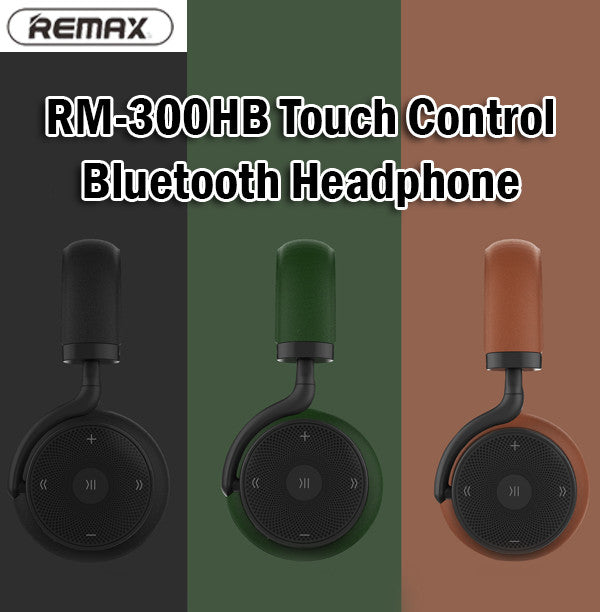 Remax RM-300HB Touch Control Bluetooth Wireless Headphone Android iPhone Samsung