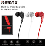 Remax RM-569 Wired Earphone Earpiece HiFi Audio In Ear Microphone 1.2M Cable