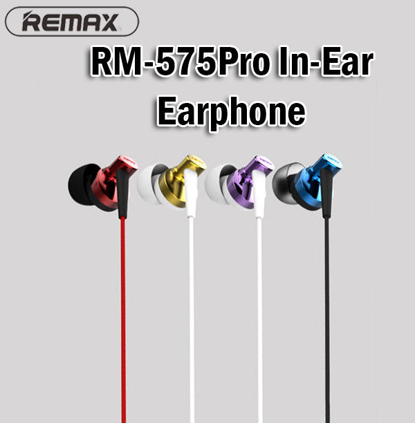 Remax RM-575Pro In-Ear Earphone Earpiece Android Samsung IOS Apple iPhone Phone