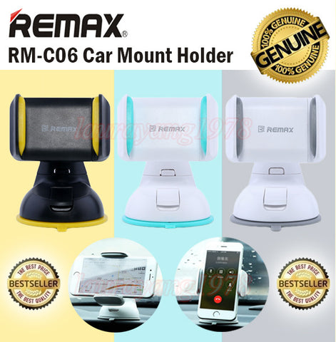 Remax RM-C06 Car Phone Mount Holder on Windscreen and Dashboard