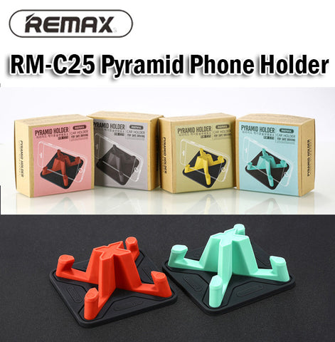Remax RM-C25 Pyramid Phone Holder for Car Silicone Anti Slip Washable Universal