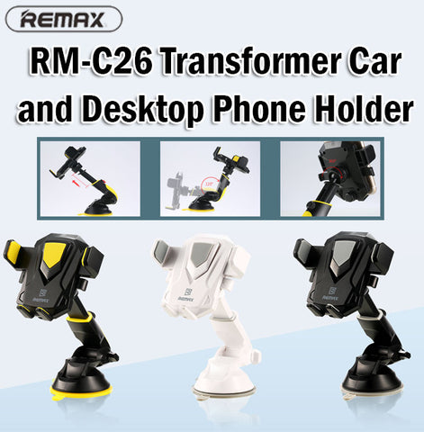 Remax RM-C26 Transformer Car Desktop Holder Phone Smartphone iPhone Android Clip