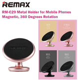 Remax RM-C29 Metal Holder Magnetic 360 Degrees Rotation Mobile Phone Handphone