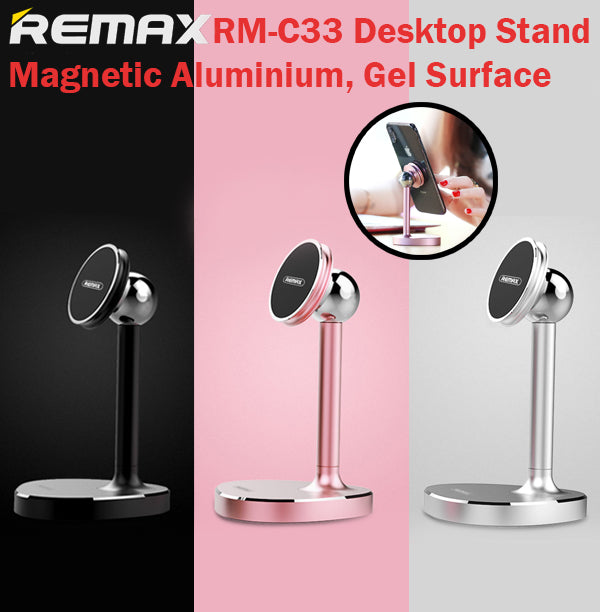 Remax RM-C33 Desktop Stand Magnetic 360 Degrees Rotational Silica Surface Holder