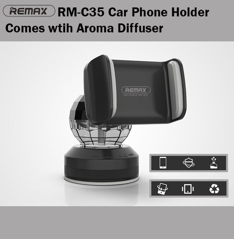 Remax RM-C35 Car Phone Holder with Aroma Diffuser Aromatherapy Oil 3in1 Perfume