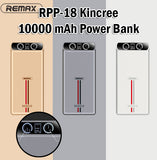 Remax RPP-18 Kincree 10000 mAh Power Bank Portable Charger Android iPhone Apple