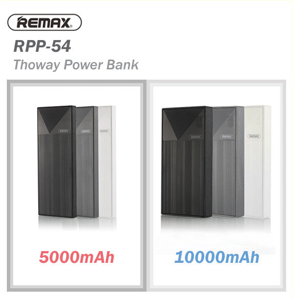Remax RPL-54/RPL-55 Thorway 5000/10000 mAh Compact Powerbank Portable Charger