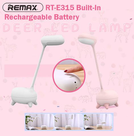 Remax RT-E315 Deer LED Lamp Table Light Desk Lights Adjustable Bendable Neck Cute