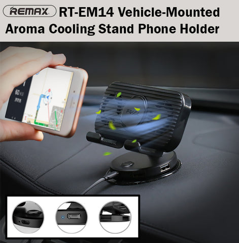 Remax RT-EM14 Vehicle Mounted Aroma Cooling Stand Car Phone Holder Handphone