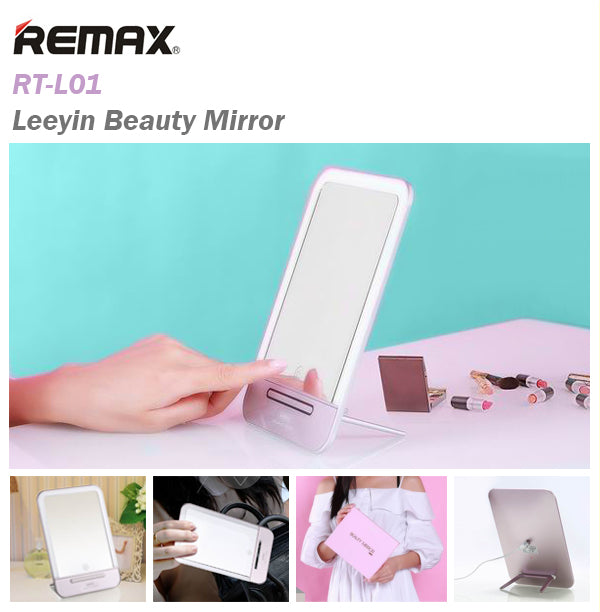 Remax RT-L01 Leeyin Beauty Mirror Makeup Prop Stand Recharge LED Light Desk