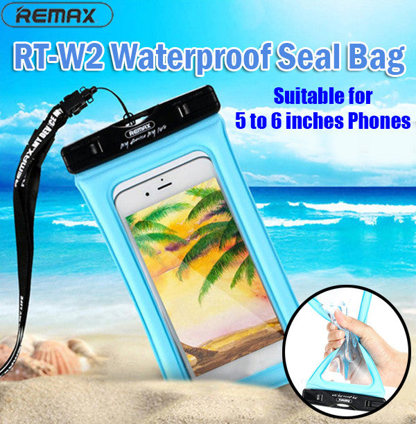 Remax RT-W2/Plus Waterproof Seal Bag Underwater Swimming Bag Floatable Antishock