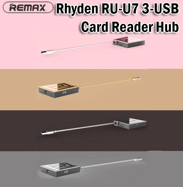 Remax RU-U7 Rhyden 3-USB 3.0 Card Reader Hub SD Card TF Card Multiport Extension