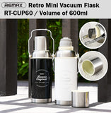 Remax RT-CUP60 Retro Mini Vacuum Flask Stainless Steel Water Bottle Tumbler Tea