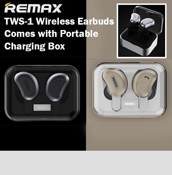 Remax TWS-1 True Wireless Bluetooth Earbuds Headset Charging Box Android iPhone
