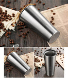 Remax RT-CUP40 Yakur Coffee Cup Anti Slip Resistance with Cover Stainless Steel