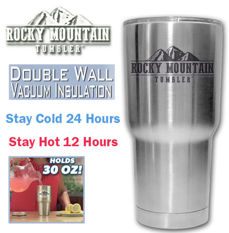 Rocky Mountain Tumbler Hot Cold Drinks Vaccum Air Tight Insulator Insulation