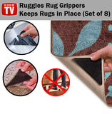 Reusable Rug Gripper Ruggies Set of 8 All Flooring Types Simple Easy Press Stick