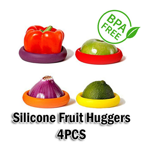 Silicone Fruit Huggers for Fruits Vegetables Canned Food Fresh 4PCS