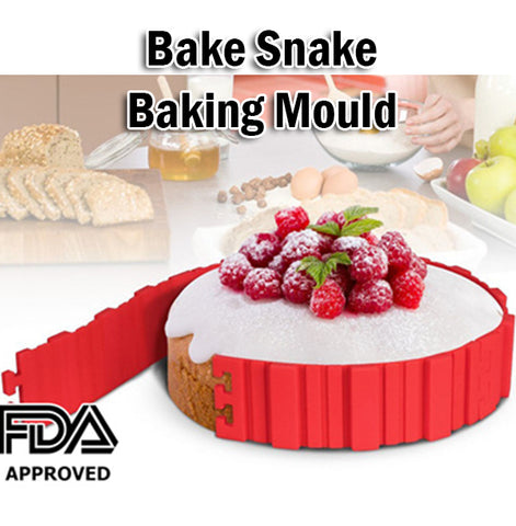 Bake Snake Changeable Design Flexible Silicone Baking Mould for Cake or Cupcake