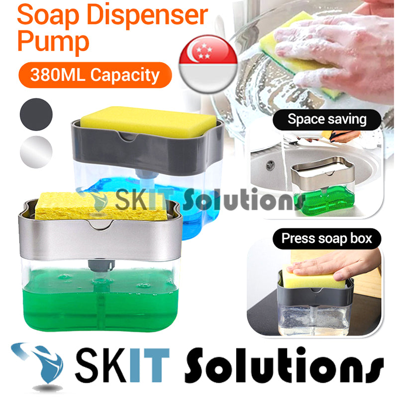 Soap Pump Dispenser Sponge Holder Toilet Washing Bathroom Hand Push ABS Kitchen Home Water Resistant