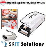 !Bundle of 2! Portable Food Sealer Hand Held Sealing Machine Heat Tool Home Use