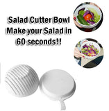 Salad Cutter Bowl Done in 60 Seconds Easy Fast Quick No Hassle Never Cut Fingers