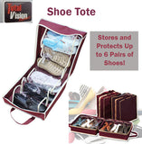 Total Vision Shoe Tote Storage Bag Organiser Organizer Protect Shoes Spacesaving