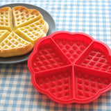 Silicone Heart Shape Waffle Mould Maker Bake Baking Bakeware Kitchen Easy Fast