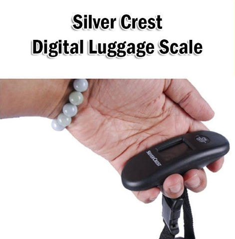 Silver Crest Luggage Baggage Belt Scale Weigh Weighing Weight KG LB Overseas