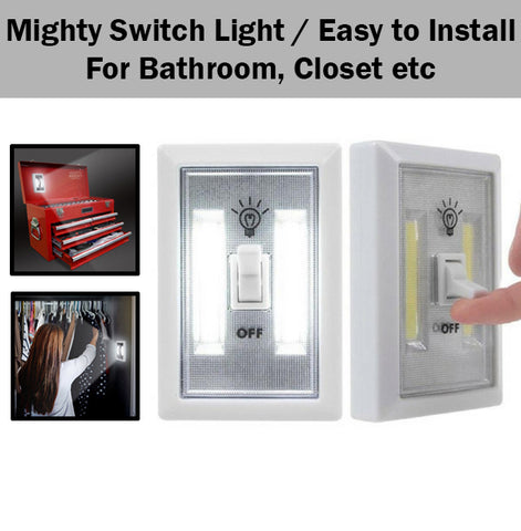 Mighty Switch Light Lights Easy to Install Suitable for Bathroom Closet Storage
