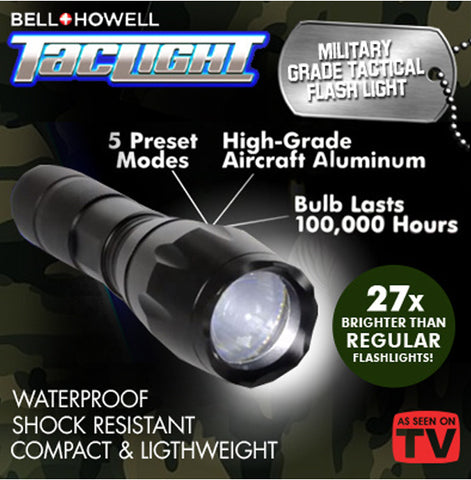 Super TacLight ★ Tac Light Tactical Flash Military Grade Torch Light
