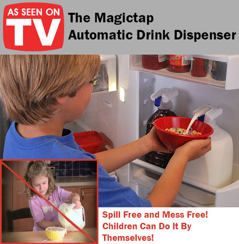 As Seen On TV The Magictap Automatic Drink Dispenser Spill Mess Free Children