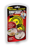 Turbo Snake Drain Hair Removal Tool Slow Sink Tub Shower Remove Clog Fast Easy