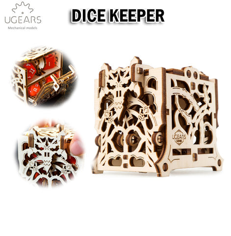 UGEARS Dice Keeper DIY Wooden Building Mechanical Model Gift Kit