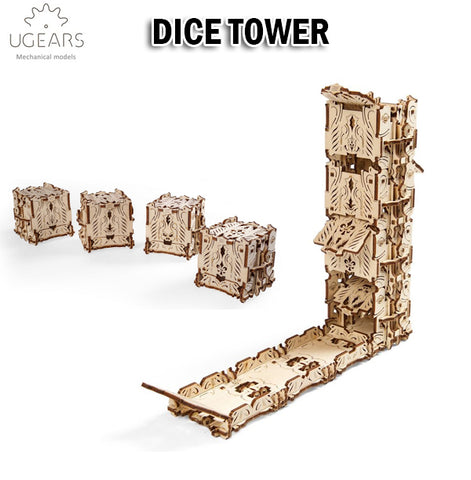 UGEARS Dice Tower DIY Wooden Building Mechanical Model Gift Kit