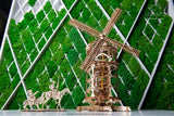 UGEARS Tower Windmill DIY Wooden Building Mechanical Model Gift Kit