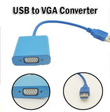 USB 3.0 to VGA Converter Multi-display Graphic Adapter Cable 1920 x 1080 HD 2.0