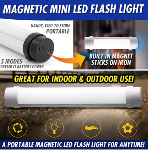 Portable Rechargeable Magnetic Mini LED Flash Torch Light UY-Q6M